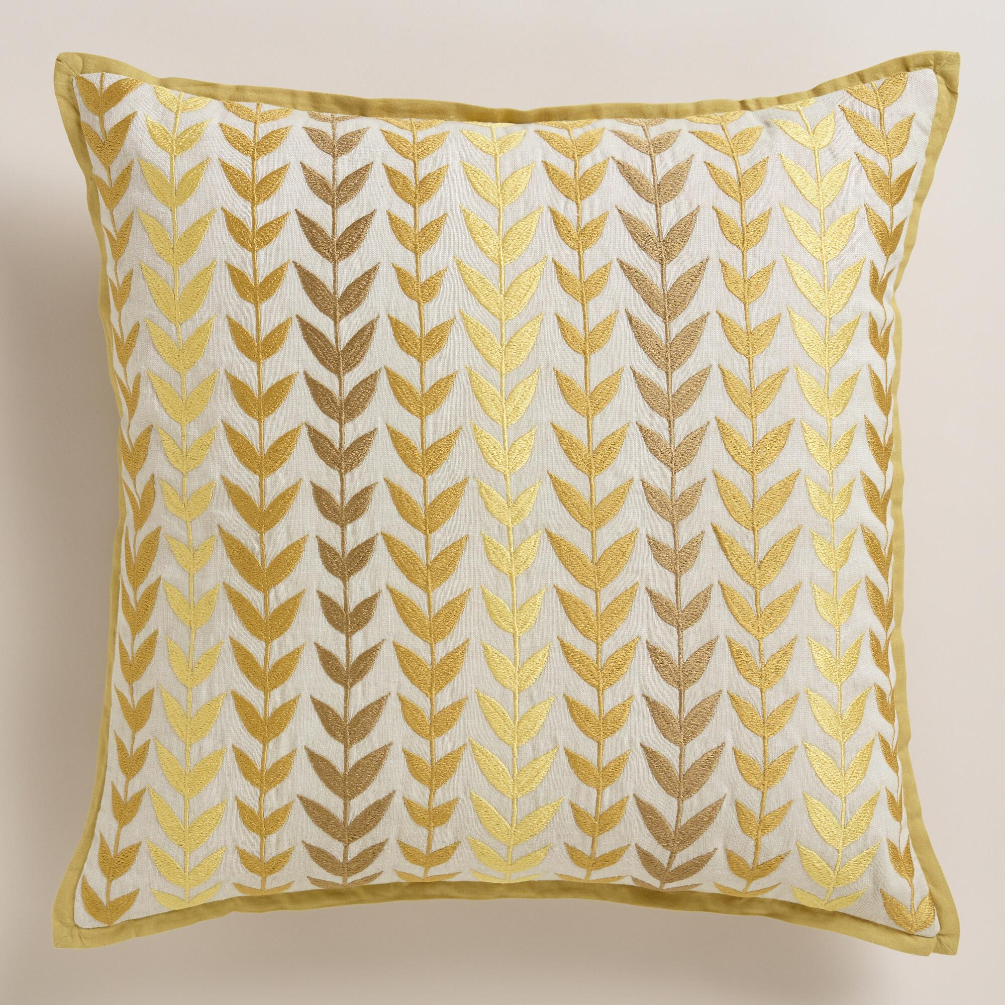 Throw Pillows Groupon : Yellow and Gray Geometric Throw Pillow World Market