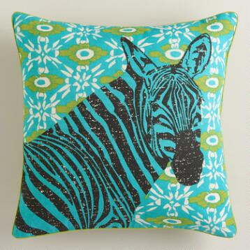 Zebra Graphic Throw Pillow