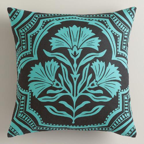 Printed Floral Throw Pillow