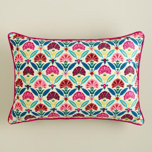 Printed Velvet Samantha Lumbar Pillow