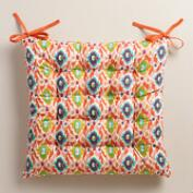 Multicolor Ikat Chair Cushion