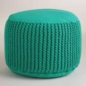 Aqua Indoor-Outdoor Pouf