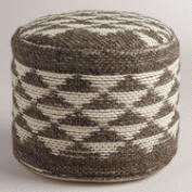 Boulevard Triangle Wool Pouf