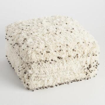 Oversized Moroccan Wool Pouf