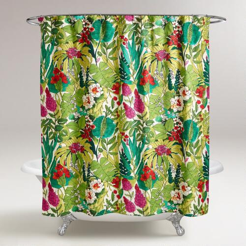 Fiji Foliage Shower Curtain