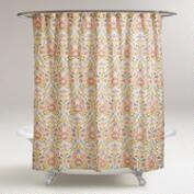 Pink Floral Zara Shower Curtain