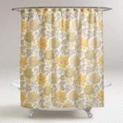 Yellow Floral Pari Shower Curtain