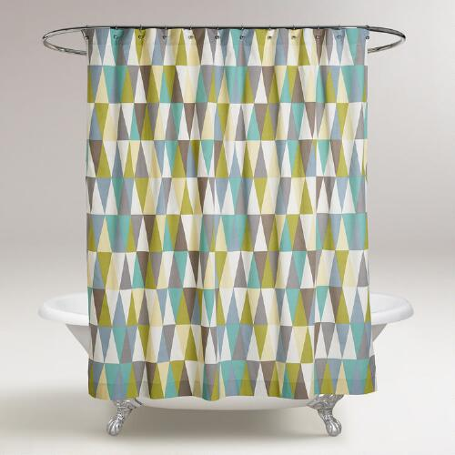 Geometric Aspen Shower Curtain