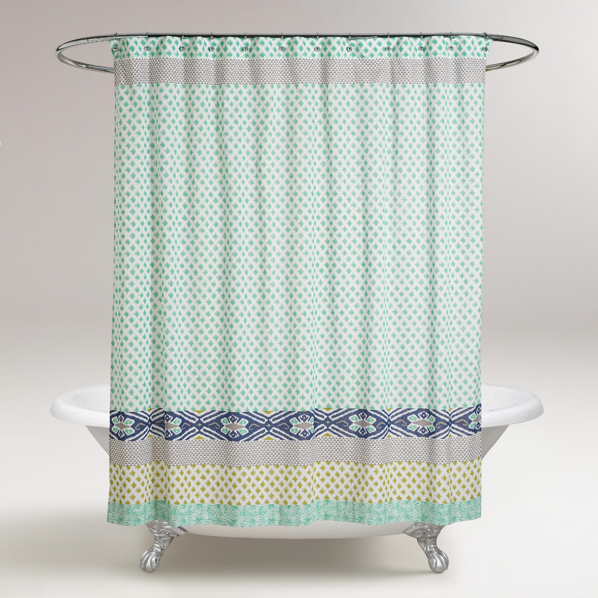 blue and green daelynn shower curtain world market