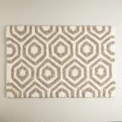 Sand and Ivory Honeycomb Bath Mat