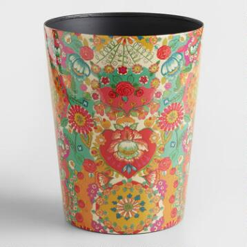 Bettina Floral Trash Can