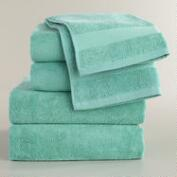 Sea Blue Cotton Bath Towel Collection