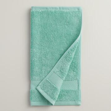 Sea Blue Cotton Washcloth, Set of 2