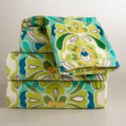 Blue and Green Tulip Bath Towel Collection
