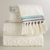Emilia Sculpted Bath Towel Collection