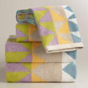Triangle Jacquard Calisto Bath Towel Collection