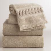 Sand Woven Catalina Bath Towel Collection