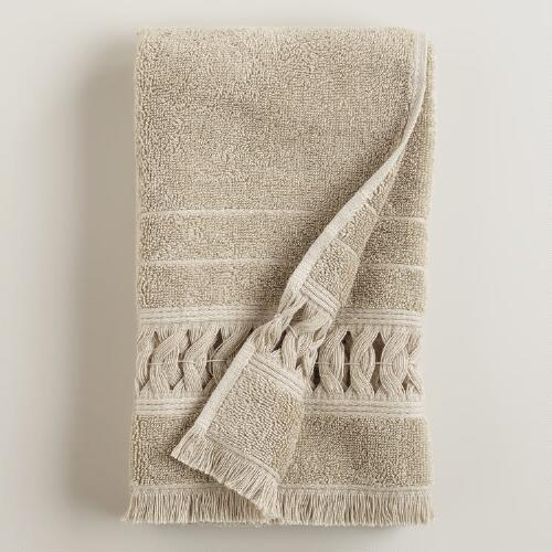 Sand Woven Catalina Hand Towel