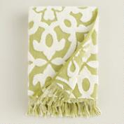 Green Sculpted Tile Soleil Bath Towel