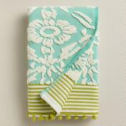 Aqua Sculpted Geo Daisy Hand Towel