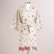 Lavender Floral Embroidered Avani Robe
