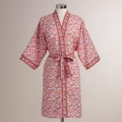 Coral and Orange Floral Mina Robe