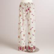 Lavender Floral Embroidered Avani Pajama Pants