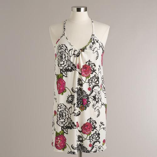Black and Pink Floral Laurent Chemise