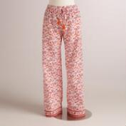 Coral and Orange Floral Mina Pajama Pants