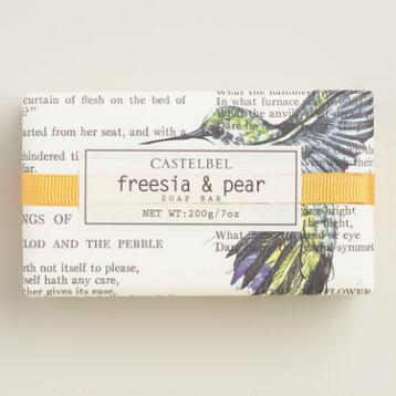 Castelbel Typography Freesia & Pear Bar Soap
