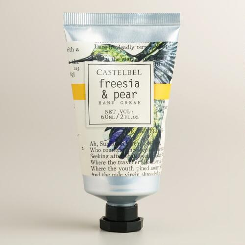 Castelbel Typography Freesia and Pear Hand Creams, Set of 2