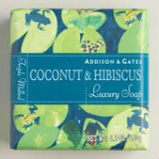 A&G Fiji Coconut & Hibiscus Bar Soaps, Set of 2