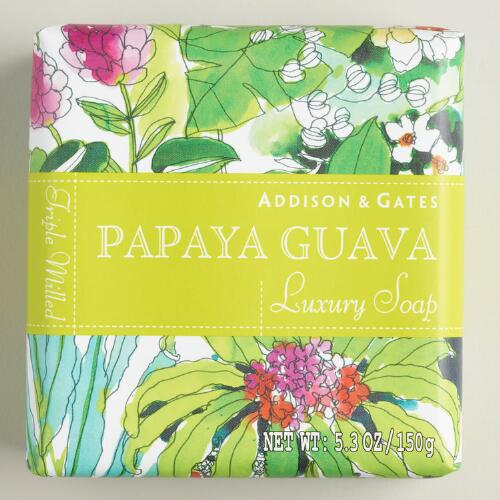 A&G Fiji Papaya Guava Bar Soaps Set of 2