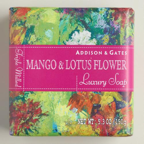 A&G Fiji Mango & Lotus Flower Bar Soaps Set of 2