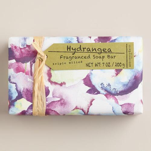 A&G Hydrangea Watercolor Bar Soaps, Set of 2