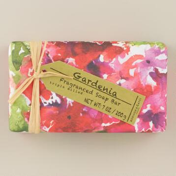 A&G Gardenia Watercolor Bar Soaps, Set of 2