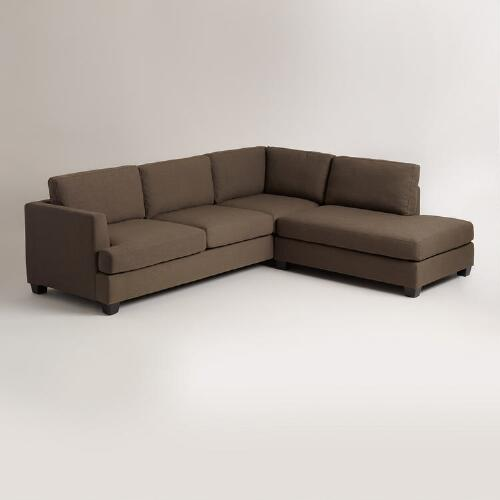 Cocoa Brown Joran Sectional Sofa