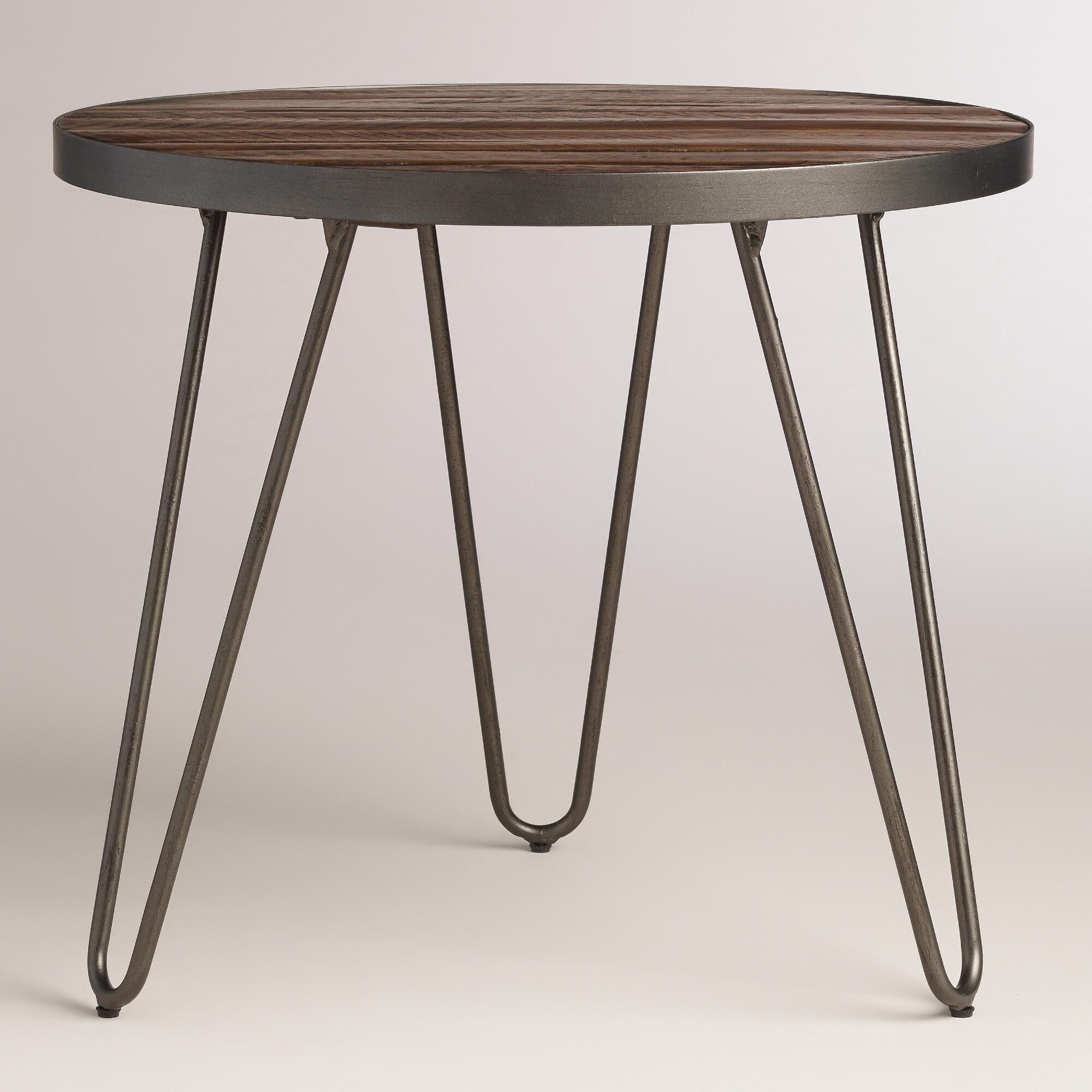 Coffee Table Coffee Table World Market Round Hairpin: Wood Hairpin End Table