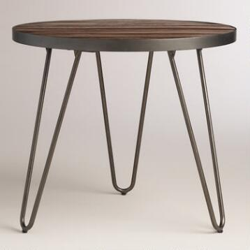 Wood Hairpin End Table