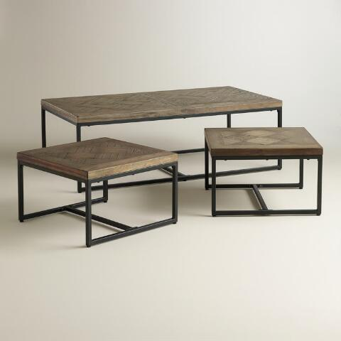 Parquet Gelder Nesting Coffee Tables Set Of 3 World Market