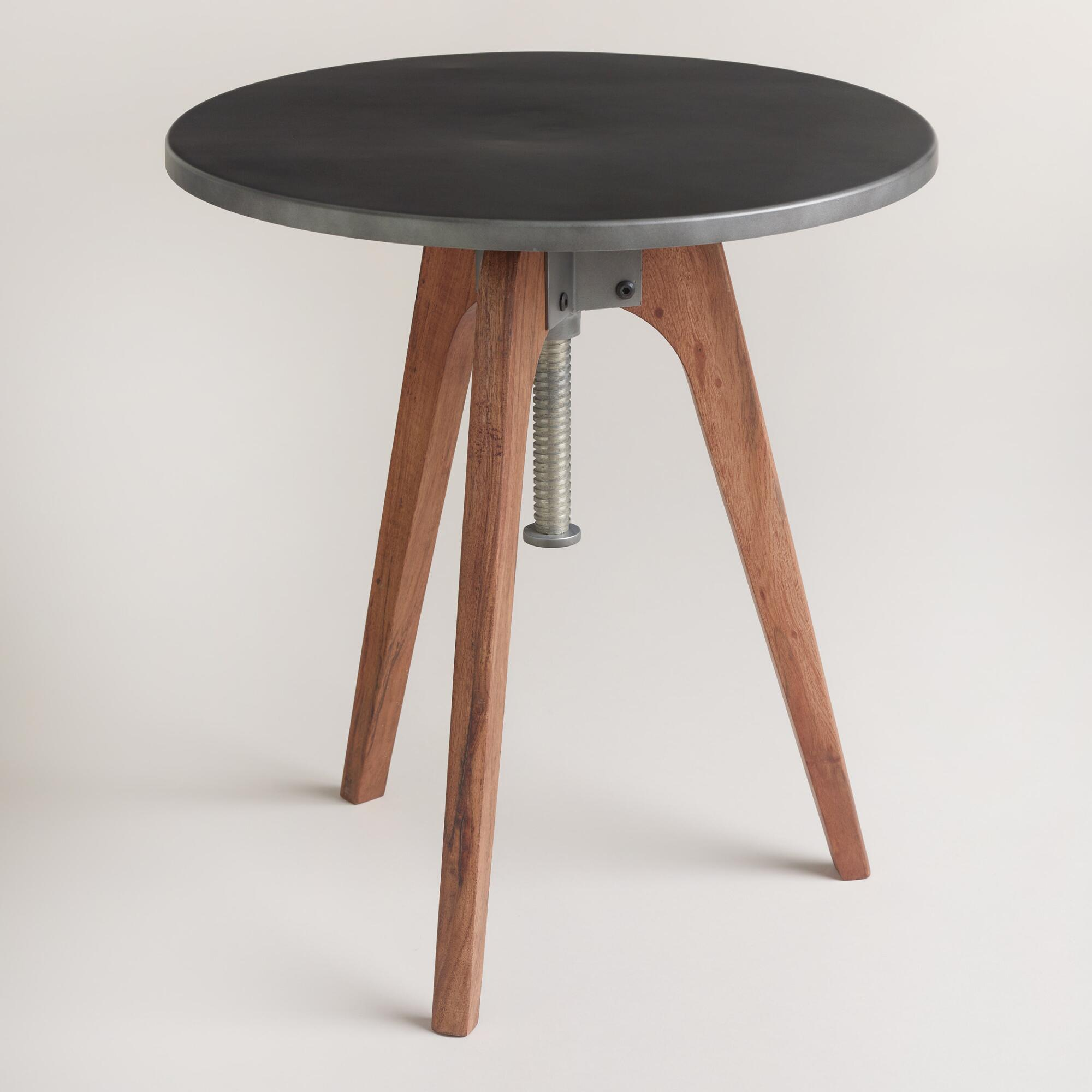 Round eslynn swivel accent table world market for Accent end tables
