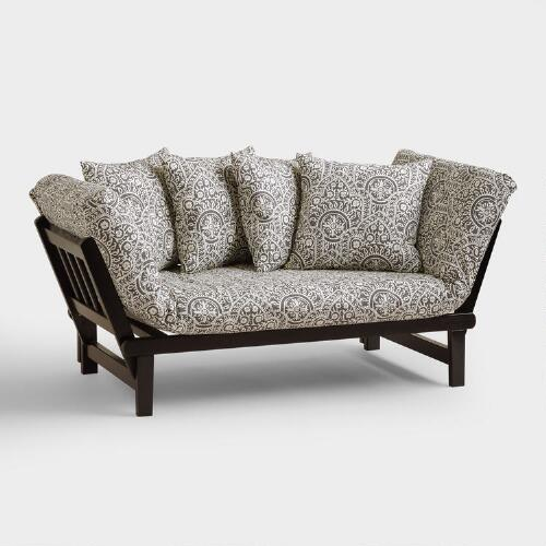 Morocco print studio day sofa slipcover world market for Outdoor furniture covers world market