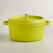Green Round Cast Aluminum Dutch Oven