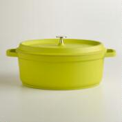 Green Oval Cast Aluminum Dutch Oven