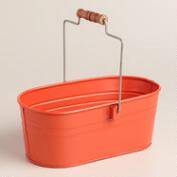 Coral Metal Housekeeping Utility Bucket