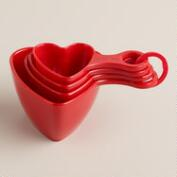 Red Heart Melamine Measuring Cups