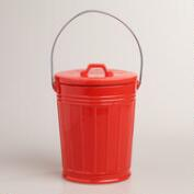 Coral Ceramic Compost Bucket