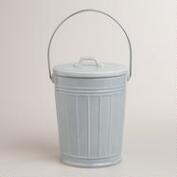 Shiny Galvanized Ceramic Compost Bucket