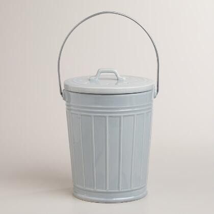X for Ceramic bathroom bin