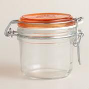 Small Orange Fido Clamp Jars, Set of 6